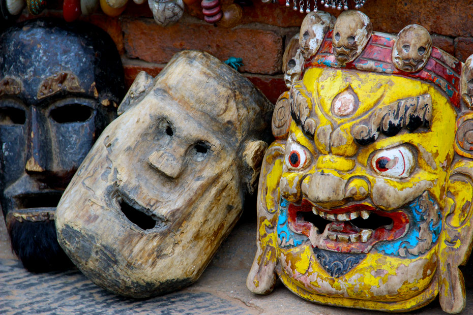 Scary-Wooden-masks-Bhaktapur