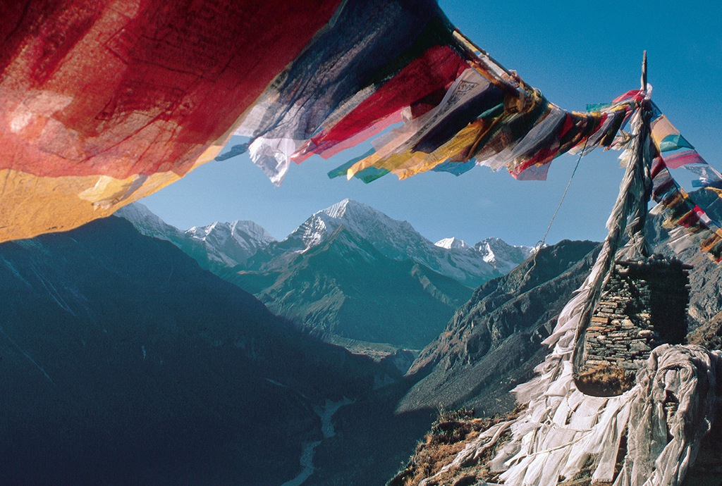 Prayer Flags Flying in the Everest Region